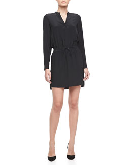 Vince Drawstring Shirttail Dress