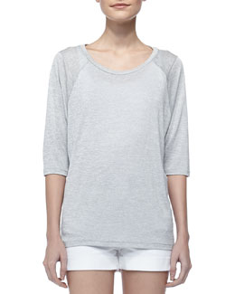 Vince Scoop-Neck Raglan Sleeve Tee