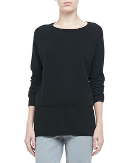 Vince Long-Sleeve Cashmere Sweater