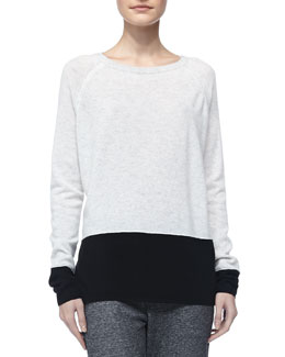 Vince Colorblock Cashmere Sweater