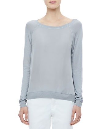 Raglan Mixed-Media Sweater, Dream