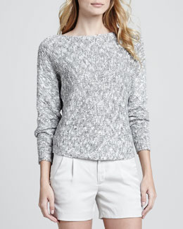 Vince Bateau Textured Knit Sweater