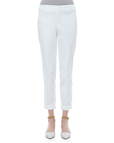 Twill Boyfriend Trousers