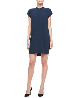 Vince Cap-Sleeve Loose Dress, Coastal