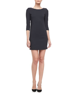 Vince Fitted Crepe Dress