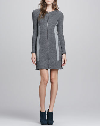 Chayenne Two-Tone Front-Zip Dress