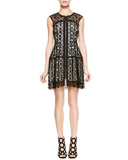 Nanette Lepore Drive Me Crazy Lace Dress