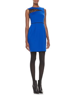 Nanette Lepore Take My Hand Lace-Inset Dress