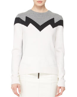 A.L.C. Daniel Zigzag Knit Sweater