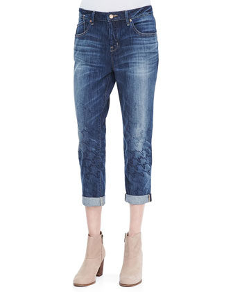 Jessie Patterned Boyfriend Jeans