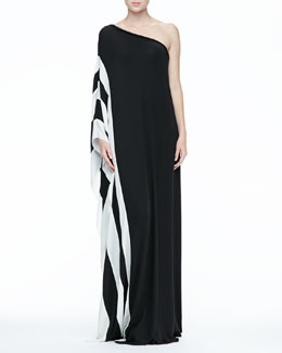 Rachel Zoe Azur One-Shoulder Maxi Dress