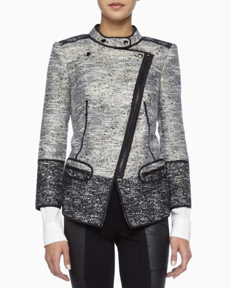 Davenport Asymmetric Tweed Jacket