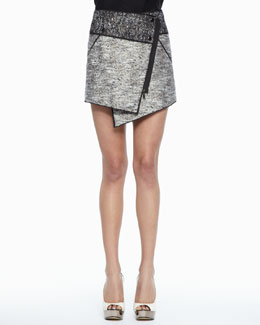 Rachel Zoe Bowery Asymmetric Tweed Skirt