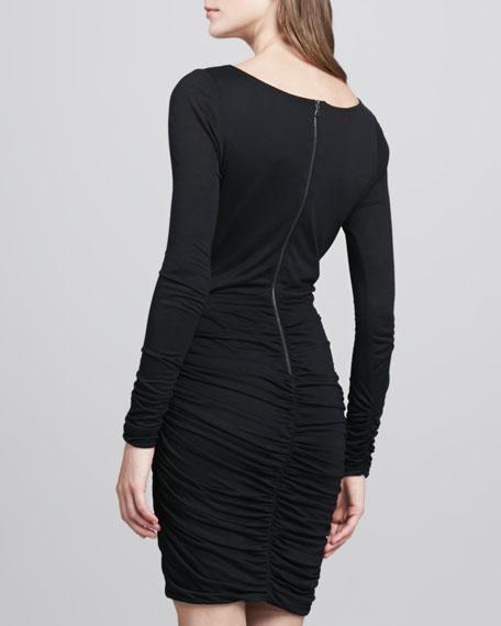 Draped Ruched Jersey Dress