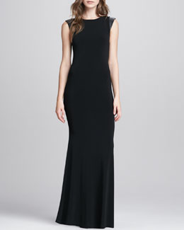Alice + Olivia Open-Back Maxi Dress
