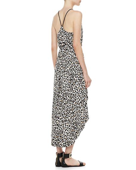 Cheetah-Print Hi-Lo Dress