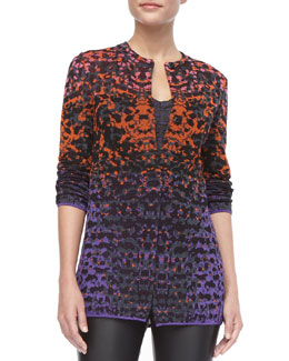 M Missoni Metallic Lizard Jacquard Cardigan