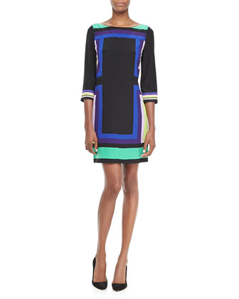 Avery Geometric Pattern Dress