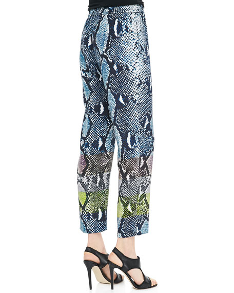 Benett Two Animal-Print Pants