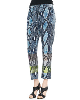 Diane von Furstenberg Benett Two Animal-Print Pants