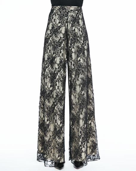Super-Flare Lace Pants