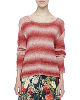 Alice + Olivia Ethan Ombre-Stripe Sweater