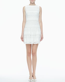 Alice + Olivia Drop-Skirt Lace Dress