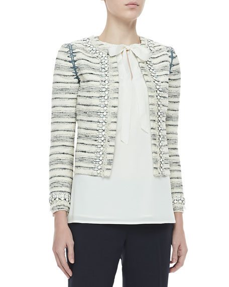 Nicole Jewel-Trim Jacket
