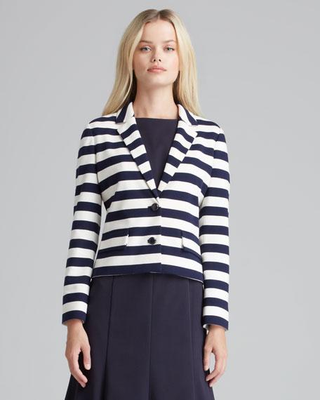 Augusta Striped Knit Blazer