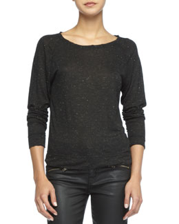 Current/Elliott The Letterman Speckled Sweater
