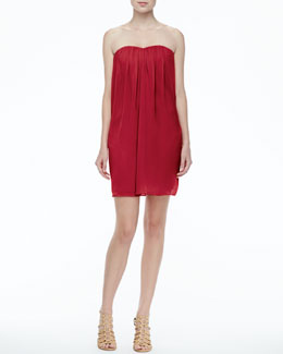 Alice + Olivia Jazz Strapless Chiffon Dress