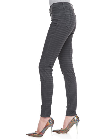 Mid-Rise Mica Prism Jacquard Skinny Jeans