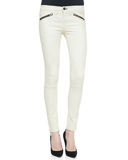rag & bone/JEAN Ridley Moto Leggings, White
