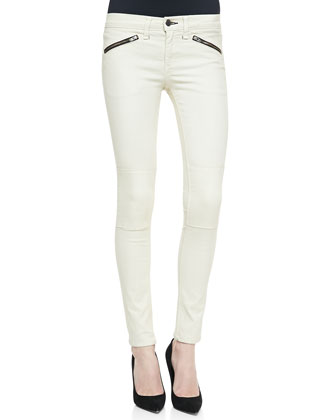 Ridley Moto Leggings, White