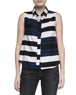 rag & bone/JEAN Brighton Striped Tent Tank