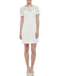 Catherine Malandrino Camilla Lace-Overlay Bubble-Skirt Dress