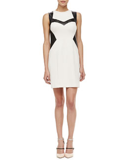 Nanette Lepore Rio Grande Leather-Trim Dress