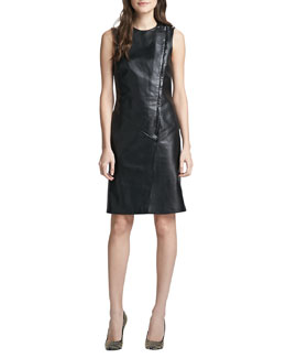 Theory Kuval Sleeveless Leather Dress