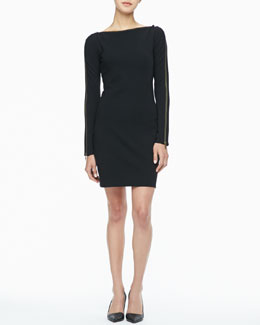 Rachel Zoe Pearson Zip-Sleeve Dress