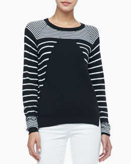 Rachel Zoe Grayson Striped Knit Sweater
