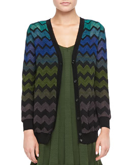M Missoni Zigzag Knit Cardigan