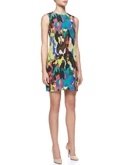 M Missoni Camouflage-Print Shift Dress
