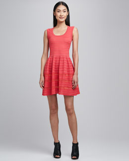 M Missoni Sleeveless Solid Rib Stitch Dress