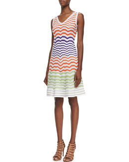 M Missoni Sleeveless Colorblock Zigzag Dress