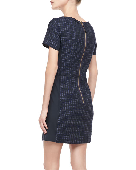 Cacey Fitted Tweed Dress