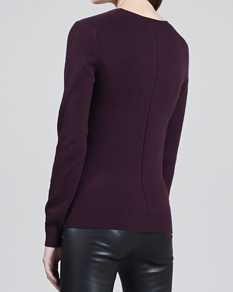 Elena Relaxed Cashmere Sweater, Rajah