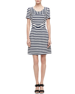 MARC by Marc Jacobs Yuni Striped A-Line Dress