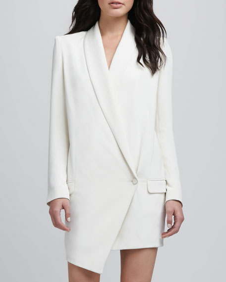 Oversize One-Button Asymmetric Blazer