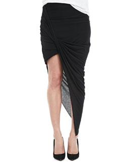 HELMUT Helmut Lang Asymmetric Fitted Jersey Skirt