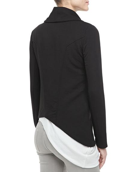 Asymmetric Knit Zip Jacket